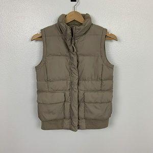 Gap Winter Vest Quilted Tan Sz: XS